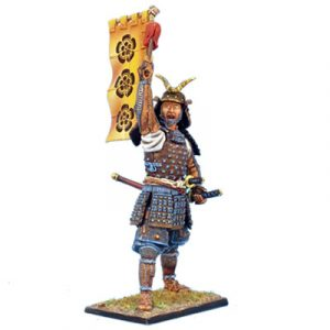 SAM015 SAMURAI COMMANDER WITH SASHIMONO - ODA CLAN
