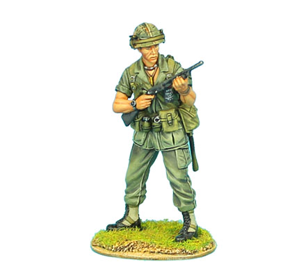 VN006 US 25th INFANTRY STANDING WITH ITHACA 37 SHOTGUN