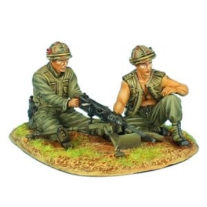 VN018 US 25th INFANTRY DIVISION BROWNING M2 MG TEAM