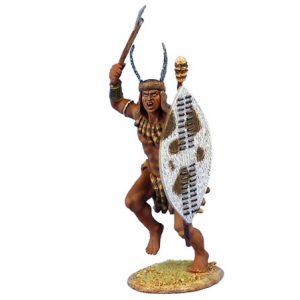 ZUL020 uMHLANGA ZULU WARRIOR WITH AXE AND SHIELD