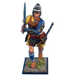 SAM001 ASHIGARU WITH RAISED NAGINATA