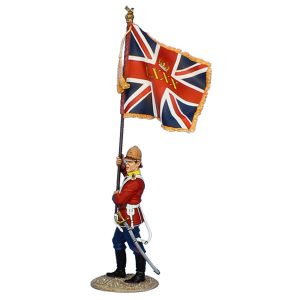 MB073 BRITISH 80th FOOT STANDARD BEARER - QUEENS COLOURS