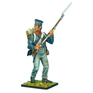 NAP0374 FRENCH 1ST LIGHT INFANTRY OVERWEIGHT CHASSEUR STANDING SHOUTING