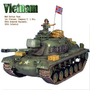 VN024 US M48A3 PATTON TANK AND COMMANDER - 69th ARMOURED REGT. 25th INFANTRY DIVISION