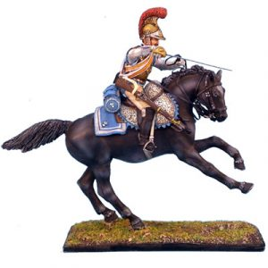 NAP0073 FRENCH 2nd CARABINIERS STANDARD BEARER CHARGING