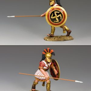 AG034 HOPLITE CHARGING WITH SPEAR