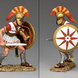 AG035 HOPLITE ADVANCING WITH SWORD AND SHIELD