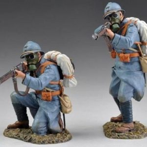 GW023 FRENCH WW1 INFANTRY WITH GAS MASKS