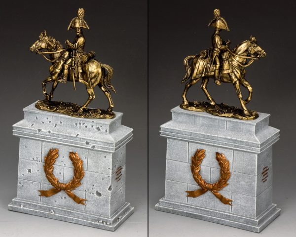 SP088-GR THE MOUNTED RUSSIAN OFFICER ON LARGE EQUESTRIAN STATUE PLINTH (GREYSTONE)