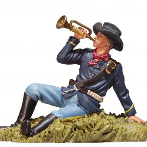 BH0108 US BUGLER LAYING ON GROUND