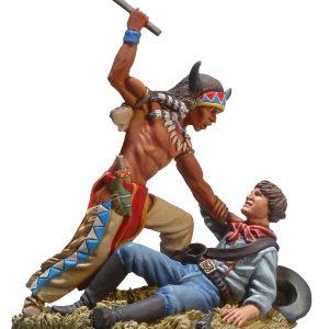 BH0109 SIOUX WARRIOR FIGHTING WITH US CAVALRYMAN