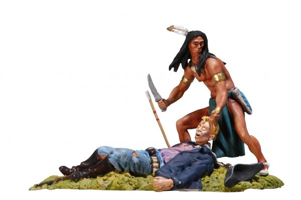 BH0118 SIOUX SCALPING US CAVALRYMAN