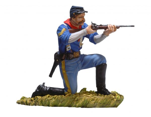 BH0119 KNEELING US CAVALRYMAN SHOOTING CARBINE