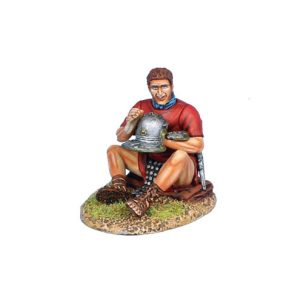 ROM165a Imperial Roman Legionary Polishing Helmet - Red Tunic