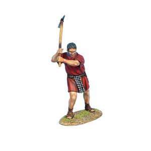 ROM167a Imperial Roman Legionary Swinging Pick - Red Tunic
