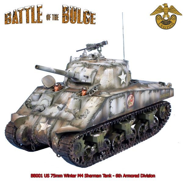BB001 US 75MM WINTER M4 SHERMAN TANK - 6th ARMOURED DIVISION