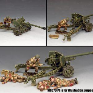 MG074(P) L/SGT JOHN BASKEYFIELD VC AND HIS 6PDR. ANTI TANK GUN