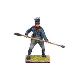 NAP0558 PRUSSIAN ARTILLERY PRIVATE WITH RAMMER/SPONGE - 2nd BRANDENBURG