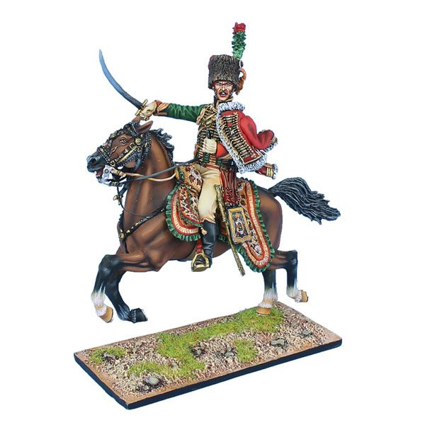 NAP0531 FRENCH IMPERIAL GUARD CHASSEUR a CHEVAL OFFICER