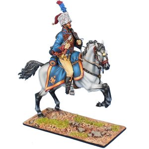 NAP0533 FRENCH IMPERIAL GUARD CHASSEUR a CHEVAL TRUMPETER