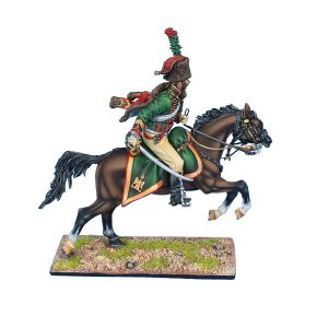 NAP0534 FRENCH IMPERIAL GUARD CHASSEUR a CHEVAL NCO with 10 - 20 YEARS SERVICE