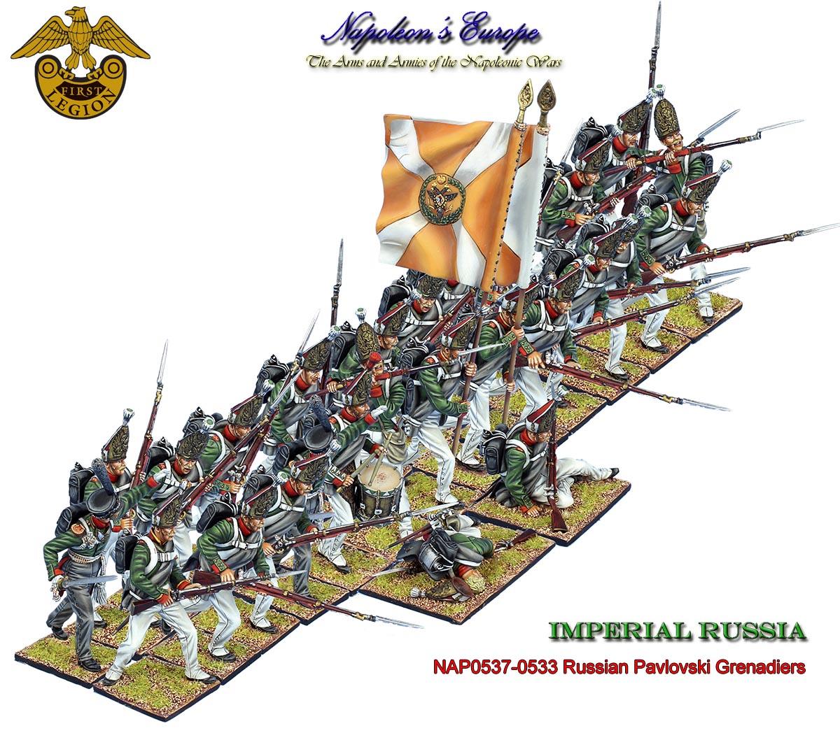 Russian Pavlovski Grenadiers