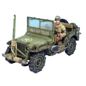BB004 US MILITARY POLICE WILLYS JEEP WITH WIRE CUTTER AND DRIVER