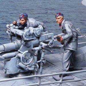 CS00970 U-BOAT 88mm CREW 2 FIGS