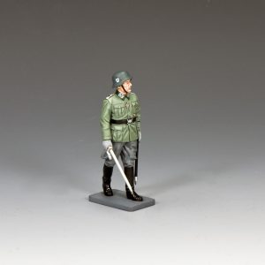 WS338 INSPECTING WAFFEN SS OFFICER