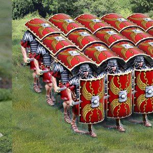 CS00915 ROMAN ADVANCING SIDE PILUM/TESTUDO