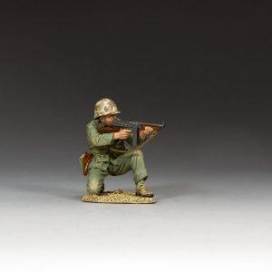 USMC022 KNEELING MARINE TOMMY GUNNER