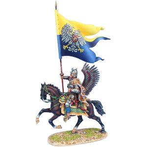 TYW005c POLISH WINGED HUSSAR ALEXANDER SOBIESKI'S BATTLE FLAG OF VIENNA