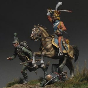 "FL54003 Imperial Guard Lancer ""Hunting for Grasshoppers"" - Waterloo 1815"