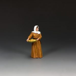 LoJ048 WOMAN CARRYING BREAD