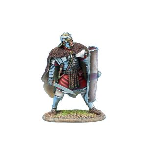 ROM213 Imperial Roman Legio XIV G.M.V. Legionary Ready in Bearskin Cloak