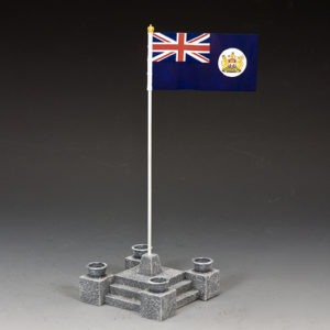 CHK010 Ceremonial Flag Base & British Crown Colony of Hong Kong Flag