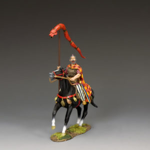 RnB014  Mounted Chieftain w/The Draco Standard