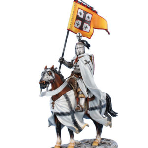 CRU107 Mounted Teutonic Knight Standard Bearer