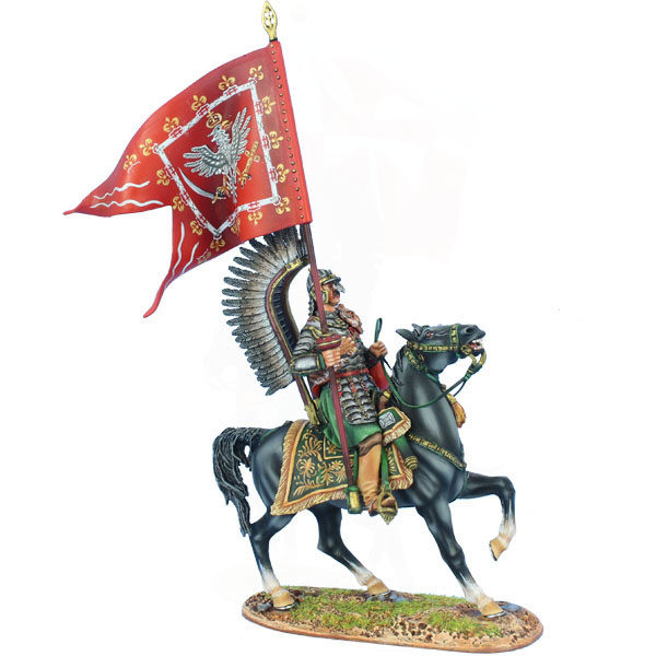 TYW027 Polish Winged Hussar with King's Standard