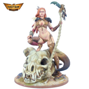 "FL7507P 75mm Fantasy ""Girl and the Dragon Skull"""