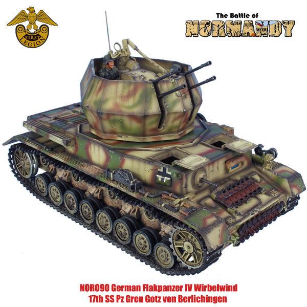 NOR090 German Flakpanzer IV Wirbelwind - 17th SS Pz Gren Gotz von Berlichingen