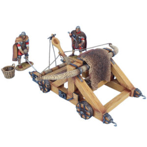 ROM235 Winter Roman Onager with 2 Crew Figures, Basket, and 2 Stones