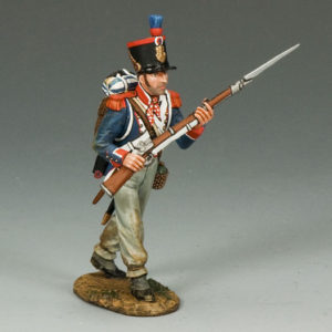 Na234 French Line Marching Rifleman (w/ beard)