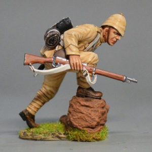 TEAM MINIATURES SECOND BOER WAR 1899 1902 BOER6005 BRITISH INFANTRY CHARGING