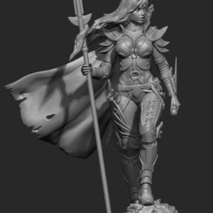 "FL7509 75mm Fantasy ""Female Warrior"" Resin Kit"