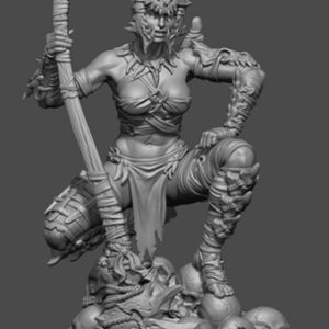"FL7510 75mm Fantasy ""Savage Female Warrior"" Resin Kit"