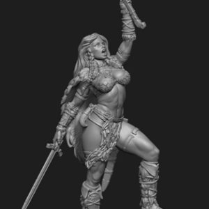 "FL7512 75mm Fantasy ""Female Barbarian"" Resin Kit"