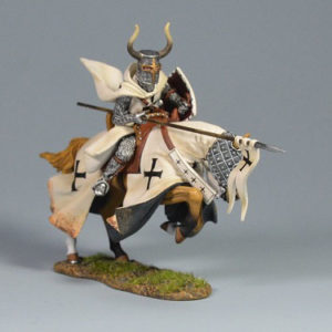 BOL6001 Mounted Teutonic Knight Flagbearer