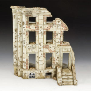 SP071 WW2 Ruined Building, diorama accessories