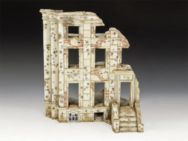 SP071 WW2 Ruined Building, diorama accessories